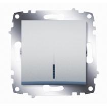 Механизм выключателя 1-кл. Cosmo с подсветкой алюм. ABB 619-011000-201