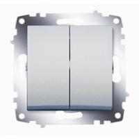 Механизм выключателя 2-кл. Cosmo алюм. ABB 619-011000-202