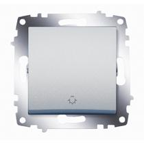 Выключатель кнопочный Cosmo алюм. ABB 619-011000-205