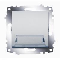 Выключатель кнопочный Cosmo с полем для надписи алюм. ABB 619-011000-208