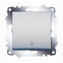 Механизм переключателя 1-кл. Cosmo схема 6 алюм. ABB 619-011000-209