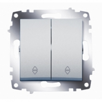 Механизм переключателя 2-кл. Cosmo схема 6 алюм. ABB 619-011000-211