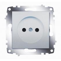 Механизм розетки 1-м Cosmo без заземл. алюм. ABB 619-011000-215