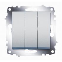 Механизм выключателя 3-кл. Cosmo алюм. ABB 619-011000-254