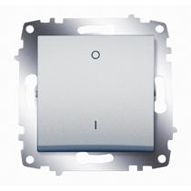 Выключатель Cosmo 2п алюм. ABB 619-011000-269