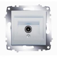 Розетка TV Cosmo проходная с экранированием алюм. ABB 619-011000-272