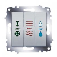 Выключатель кондиционера 3-кл. Cosmo алюм. ABB 619-011000-279