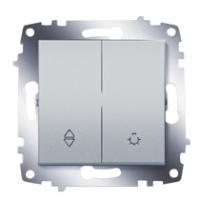 Переключатель Cosmo схема 6 + выключатель кноп. алюм. ABB 619-011000-281