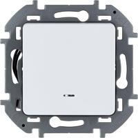 Механизм выключателя 1-кл. Inspiria 10А IP20 250В 10AX с подсветкой / индикацией