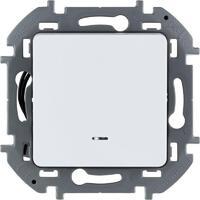 Механизм переключателя 1-кл. Inspiria 10А IP20 250В 10AX с подсветкой / индикацией сл. кость