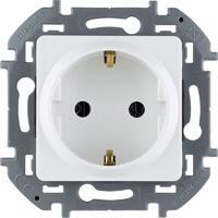 Механизм розетки 1-м СП Inspiria 16А IP20 250В 2P+E защ. шторки немецк. стандарт