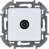 Механизм розетки проходной TV Inspiria 14дБ 5-862мГц бел