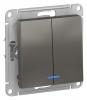 Механизм выключателя 2-кл. ATLAS DESIGN с подсветкой 10А