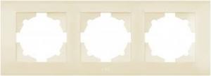 Рамка 3-м Cosmo крем. ABB 612-010300-227