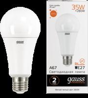 Лампа светодиодная Elementary A67 35Вт 3000К E27 2670лм Gauss 70215