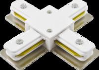 Коннектор белый крестовидный/Connector WH +