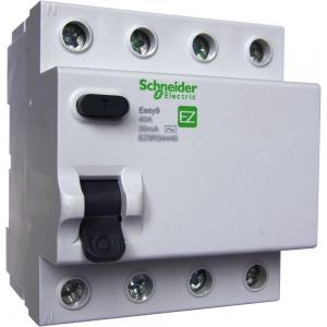 Выключатель диф. тока 4п 25А 30мА тип AC EASY 9 SchE EZ9R34425