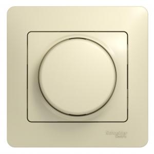 Светорегулятор СП 300Вт GLOSSA поворот. беж. SchE GSL000234