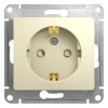 Механизм розетки 1-м СП Glossa защ. шторки с заземлением