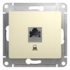 Механизм розетки компьютерной 1-м СП Glossa RJ45